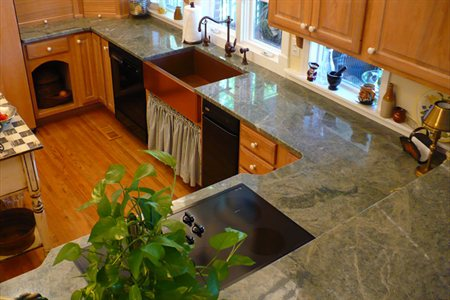 Waterfall Edge Countertop Marble